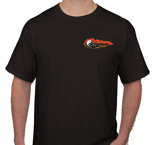 This Black T-Shirt features our new modern Logo...