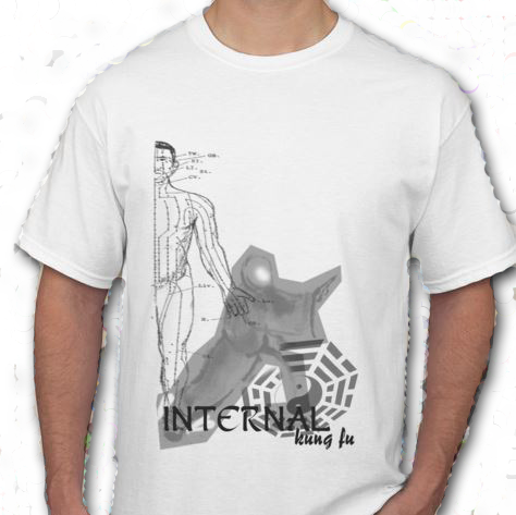 This White T-Shirt features Internal Arts like Tai Chi, Pa Kua & Hsing Yi...